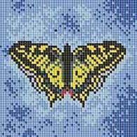 Мозаичные картины. Бабочка на синем (098-ST)