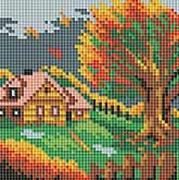 - Мозаичные картины. Осенний домик (125-ST) обложка книги