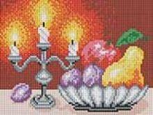 - Мозаичные картины. Натюрморт со свечами (195-ST) обложка книги