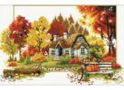 Наборы для вышивания (канва с водорастворимым рисунком). Краски осени (7572-РК)