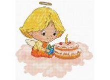 - Наборы для вышивания. Ангел с тортиком (138-14) обложка книги