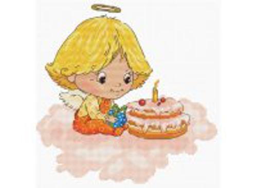 Наборы для вышивания. Ангел с тортиком (138-14)