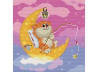 Наборы для вышивания. Котик на Луне (143-14)