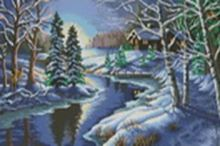 - Наборы для вышивания. Зимняя речка (1008-14) обложка книги