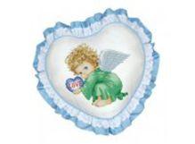 - Наборы для вышивания. Подушка Милый ангел (рюшка голубая) (501) обложка книги