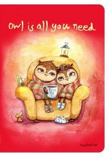 - Блокнот. Уютные совы (Owl is all you need) обложка книги