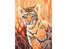 - Живопись на холсте 30*40 см. Тигренок в джунглях (217-CE) обложка книги