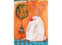 - Живопись на холсте 30*40 см. Счастливый кролик (753-AS) обложка книги