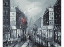 - Живопись на холсте 40*50 см. Париж (032-AB) обложка книги