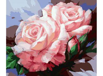 Живопись на холсте 40*50 см. Нежные розы (058-CG)