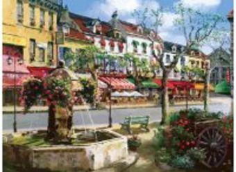 Живопись на холсте 40*50 см. Европейский городок (630-AB)