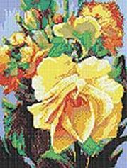 - Стразы на подрамнике. Роза (609-RS-R) обложка книги