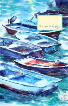 - Блокнот. Лодки. Кастро Урдиалес (А5) обложка книги