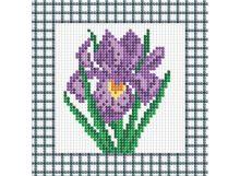 - Мозаичные картины . Фиолетовый ирис (034-ST-P) обложка книги
