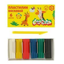 - Пластилин восковой Каляка-Маляка  6 цв. 90г, стек обложка книги
