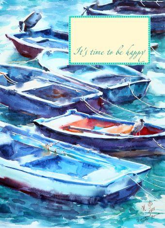 Блокнот. Лодки. Кастро Урдиалес (мини)
