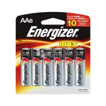 - Батарейка Energizer MAX AA/LR6 6 шт обложка книги