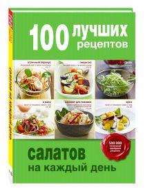 - 100 лучших рецептов салатов на каждый день обложка книги