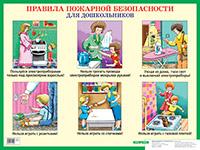 Правила пожарной безопасности для дошкольников. Наглядное пособие Иванова С.А, Пономарева Е.А.