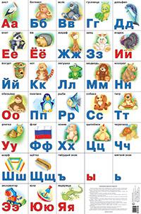 Разрезная русская азбука. Наглядное пособие