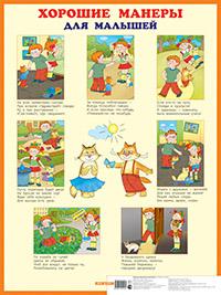 Хорошие манеры для малышей. Наглядное пособие Дружинина М.В.