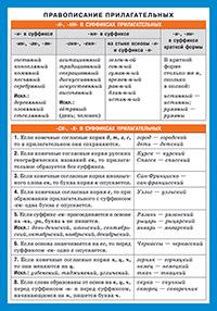 СМ. Русский язык. Правописание прилагательных.