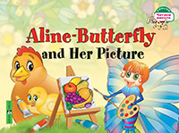 Бабочка Алина и ее картина. Aline-Butterfly and Her Picture. (на англ яз) 1 уровень