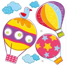 - Объемные наклейки Воздушные шары, 6 шт. обложка книги