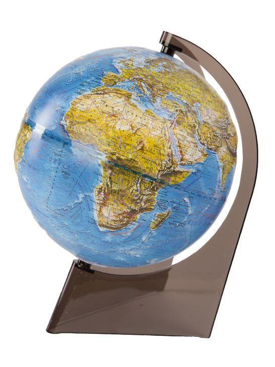 Глобус Земли Ландшафтный рельефный на треугольнике, диаметр 210 мм