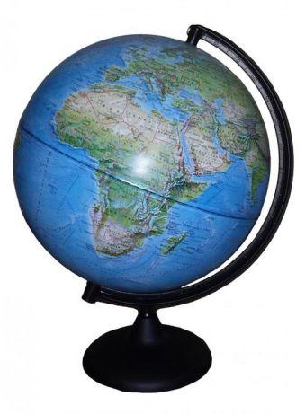 Глобус Земли Ландшафтный на дуге и подставке из пластика, диаметр 300 мм