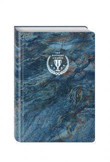 - Блокнот Top Business Awards - линованный (синий мрамор, желтые страницы) обложка книги