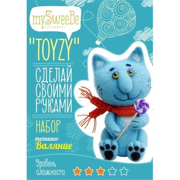 "Набор TOYZY ""Синий кот"" - техника валяние"