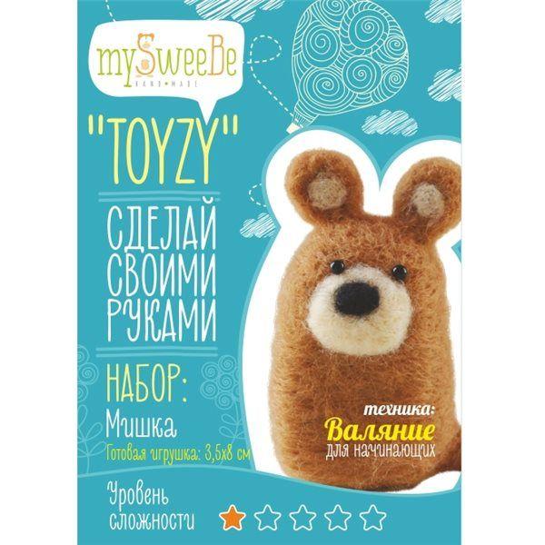 """Набор TOYZY """"Мишка"""" начальный - техника валяние"""