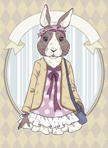 """Блокнот для записей """"Винтажный заяц"""" (А6)"""