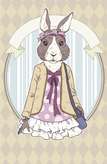 """Блокнот для записей """"Винтажный заяц"""" (А5)"""