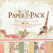 - Наборы для скрапбукинга. Набор бумаги Радужные краски 30.5см*30.5см (016-SB) обложка книги