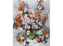 Живопись на холсте 40*50 см. Городские цветы (018-AB)