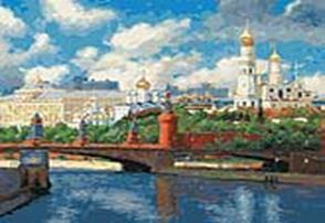 Живопись на холсте 40*50 см. Московский Кремль (074-AB)