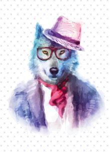 - Блокнот для записей Хитрый волк (А6) обложка книги