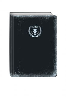 - Блокнот Top Business Awards - линованный (черное серебро, желтые страницы) обложка книги