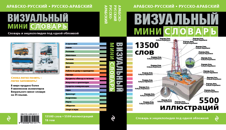 Арабско-русский русско-арабский визуальный мини-словарь