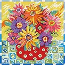 Мозаика на подрамнике. Цветики-цветочки (291-ST-R)