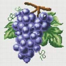 Стразы на подрамнике. Гроздь винограда (029-RS-R)