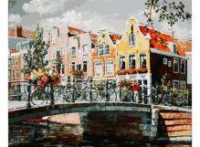 - Живопись на холсте 40*50 см. Амстердам. Мост через канал (119-AB) обложка книги