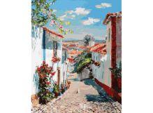 Живопись на холсте 40*50 см. Улочка в португальском поселке (121-AB)
