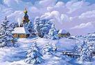 137-AB Зима в деревне