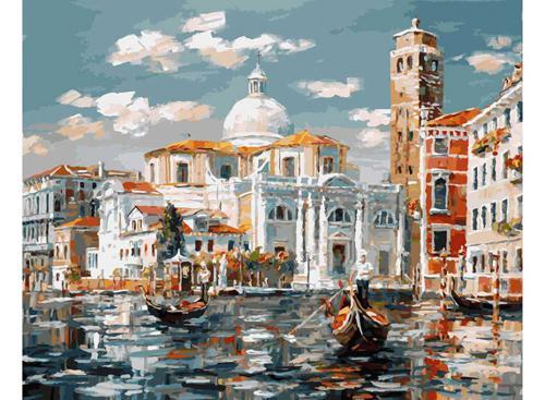 Живопись на холсте 40*50 см. Венеция. Церковь Сан Джеремия (126-AB)