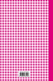 Обложка сзади Книга для записи любимых рецептов (розовая клеточка) а5