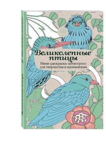 Великолепные птицы.Мини-раскраска-антистресс для творчества и вдохновения.