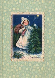 - Блокнот Девочка с елкой обложка книги